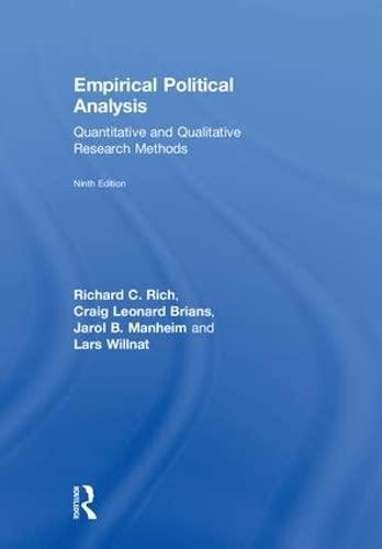 Empirical Political Analysis: International Edition: Rich, Richard C.,