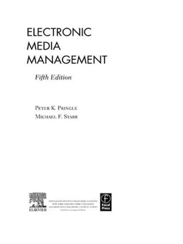 9781138129276: Electronic Media Management, Revised