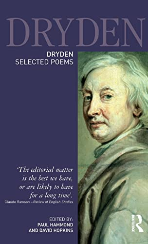 9781138137110: Dryden:Selected Poems (Longman Annotated English Poets)