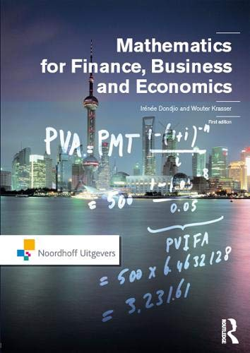 9781138137653: Mathematics for Finance, Business and Economics