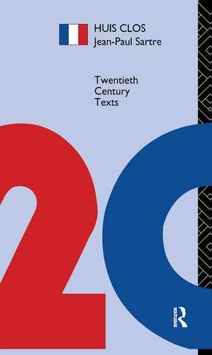 9781138138780: Huis Clos (Twentieth Century Texts)