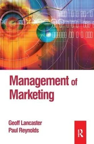 9781138144750: Management of Marketing