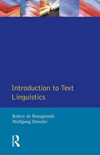 9781138146488: Introduction to Text Linguistics (Longman Linguistics Library)