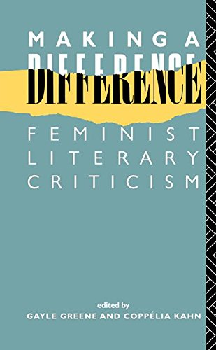 9781138151949: Making a Difference: Feminist Literary Criticism (New Accents)
