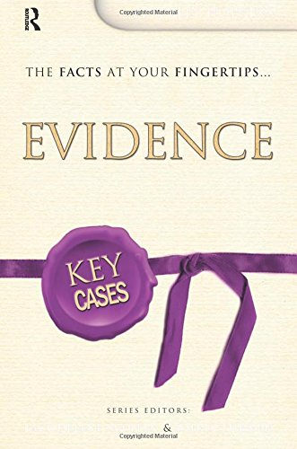 9781138158504: Key Cases: Evidence