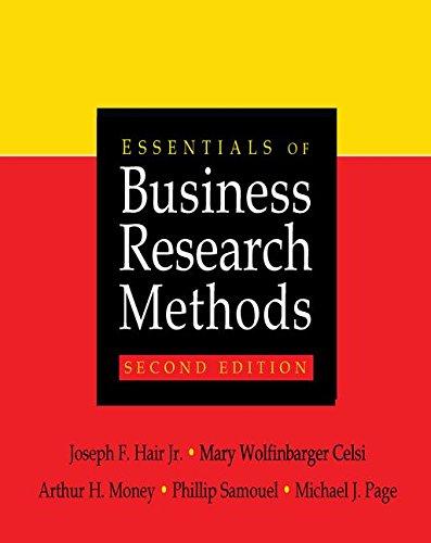 Essentials of Business Research Methods: HAIR, JR, JOSEPH