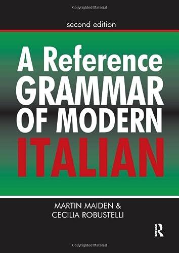 9781138170872: A Reference Grammar of Modern Italian