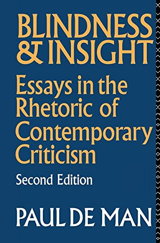 9781138172821: Blindness and Insight: Essays in the Rhetoric of Contemporary Criticism