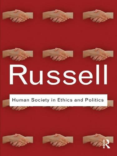 9781138173903: Human Society in Ethics and Politics