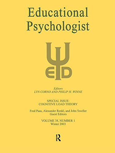 Cognitive Load Theory: A Special Issue of: PAAS, FRED; RENKL,