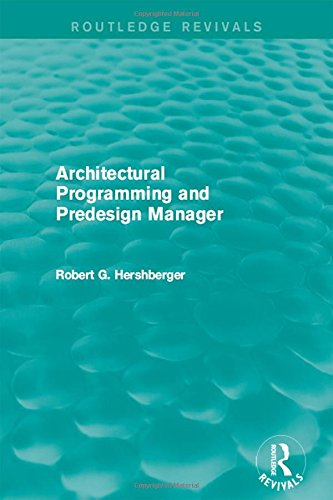 9781138183537: Architectural Programming and Predesign Manager (Routledge Revivals)