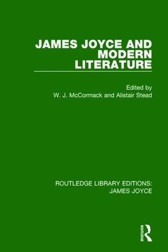 James Joyce and Modern Literature (Hardcover)