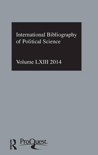 IBSS: Political Science: 2014 2014: Volume 63: International Bibliography of the Social Sciences (...