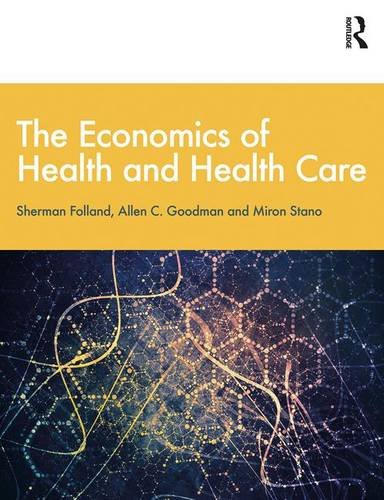 Economics Of Health And Health Care 9781138208049 Folland, Goodman, and Stano's bestselling The Economics of Health and Health Care text offers the market-leading overview of all aspects of Health Economics, teaching through core economic themes, rather than concepts unique to the health care economy. The Eighth Edition of this key textbook has been revised and updated throughout, and reflects changes since the implementation of the Affordable Care Act (ACA). In addition to its revised treatment of health insurance, the text also introduces the key literature on social capital as it applies to individual and public health, as well as looking at public health initiatives relating to population health and economic equity, and comparing numerous policies across Western countries, China, and the developing world. It provides up-to-date discussions on current issues, as well as a comprehensive bibliography with over 1,100 references. Extra material and teaching resources are now also available through the brand new companion website, which provides full sets of discussion questions, exercises, presentation slides, and a test bank. This book demonstrates the multiplicity of ways in which economists analyze the health care system, and is suitable for courses in Health Economics, Health Policy/Systems, or Public Health, taken by health services students or practitioners.