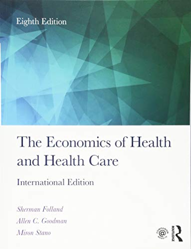 The Economics of Health and Health Care 9781138208056 Folland, Goodman, and Stano's bestselling The Economics of Health and Health Care text offers the market-leading overview of all aspects of Health Economics, teaching through core economic themes, rather than concepts unique to the health care economy. The Eighth Edition of this key textbook has been revised and updated throughout, and reflects changes since the implementation of the Affordable Care Act (ACA). In addition to its revised treatment of health insurance, the text also introduces the key literature on social capital as it applies to individual and public health, as well as looking at public health initiatives relating to population health and economic equity, and comparing numerous policies across Western countries, China, and the developing world. It provides up-to-date discussions on current issues, as well as a comprehensive bibliography with over 1,100 references. Extra material and teaching resources are now also available through the brand new companion website, which provides full sets of discussion questions, exercises, presentation slides, and a test bank. This book demonstrates the multiplicity of ways in which economists analyze the health care system, and is suitable for courses in Health Economics, Health Policy/Systems, or Public Health, taken by health services students or practitioners.