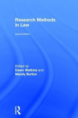 9781138230187: Research Methods in Law