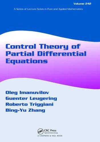 9781138417724: Control Theory of Partial Differential Equations