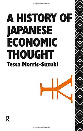 9781138437067: History of Japanese Economic Thought