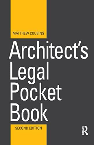 9781138460652: Architect's Legal Pocket Book