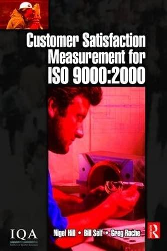 9781138464452: Customer Satisfaction Measurement for ISO 9000: 2000