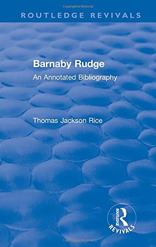 Routledge Revivals: Barnaby Rudge (1987 ): An: Rice, Thomas Jackson
