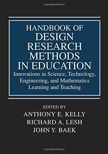 9781138494077: Handbook Of Design Research Methods In Education: Innovations In Science, Technology, Engineering, And Mathematics Learning And Teaching