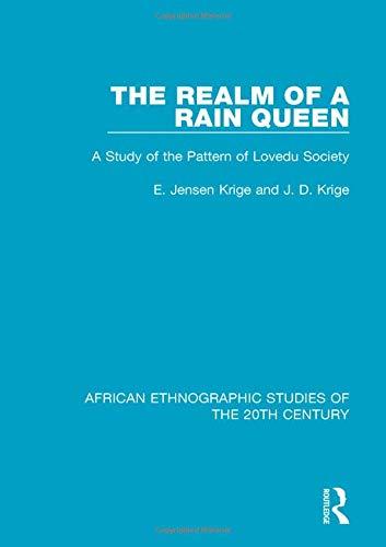 Realm of a Rain Queen : A: Krige, E. Jensen;krige,
