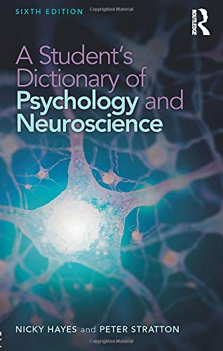 9781138632417: A Student's Dictionary of Psychology and Neuroscience