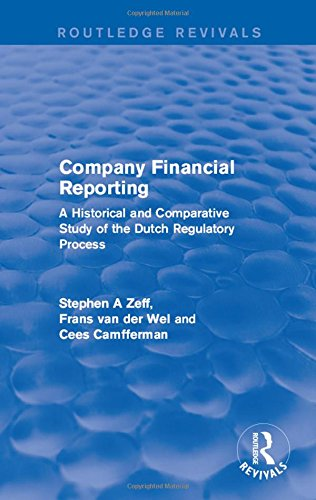 9781138639072: Company Financial Reporting: A Historical and Comparative Study of the Dutch Regulatory Process