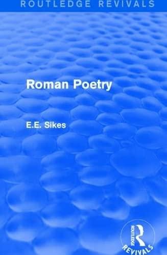 Roman Poetry: SIKES, E.E.