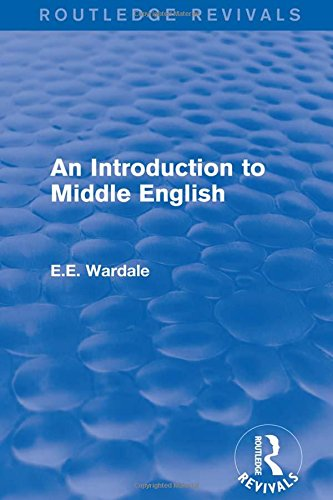 An Introduction to Middle English: WARDALE, E.E.