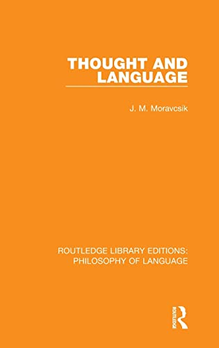 9781138696556: Thought and Language (Volume 10)