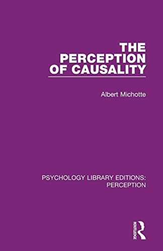 9781138698420: The Perception of Causality (Psychology Library Editions: Perception)
