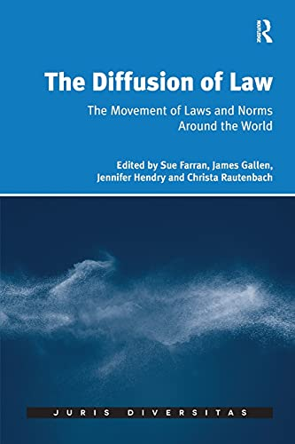 9781138701571: The Diffusion of Law: The Movement of Laws and Norms Around the World (Juris Diversitas)