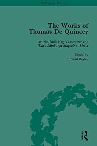 The Works of Thomas De Quincey, Part III vol 17: LINDOP, GREVEL; SYMONDS, BARRY