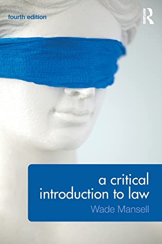 9781138775015: A Critical Introduction to Law