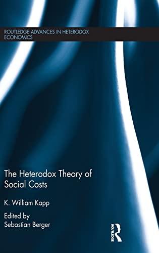 9781138775473: The Heterodox Theory of Social Costs: By K. William Kapp (Routledge Advances in Heterodox Economics)