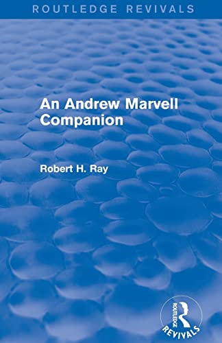 9781138775978: An Andrew Marvell Companion (Routledge Revivals)
