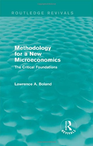 9781138776333: Methodology for a New Microeconomics (Routledge Revivals): The Critical Foundations