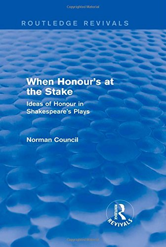 9781138778931: When Honour's at the Stake (Routledge Revivals)