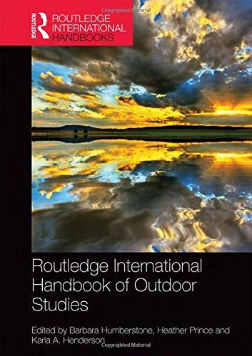 9781138782884: Routledge International Handbook of Outdoor Studies (Routledge International Handbooks)