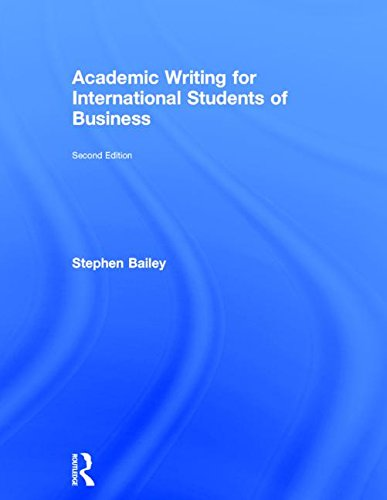 9781138783898: Academic Writing for International Students of Business