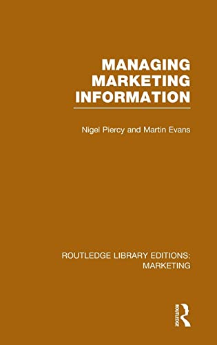 9781138793149: Routledge Library Editions: Marketing (27 vols): Managing Marketing Information (RLE Marketing)