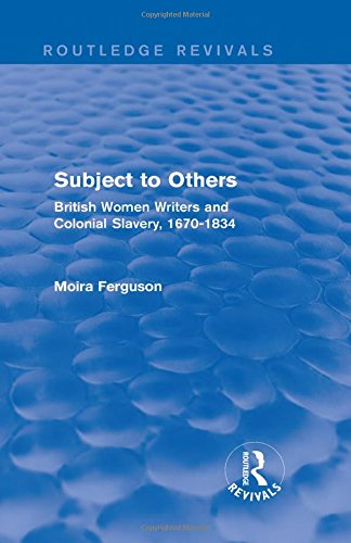 9781138796225: Subject to Others (Routledge Revivals): British Women Writers and Colonial Slavery, 1670-1834