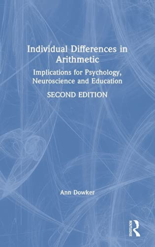 9781138800335: Individual Differences in Arithmetic: Implications for Psychology, Neuroscience and Education