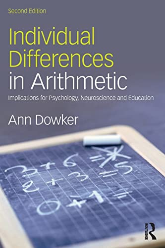 9781138800342: Individual Differences in Arithmetic: Implications for Psychology, Neuroscience and Education