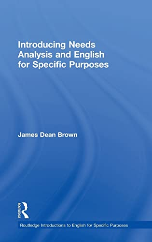 9781138803800: Introducing Needs Analysis and English for Specific Purposes (Routledge Introductions to English for Specific Purposes)