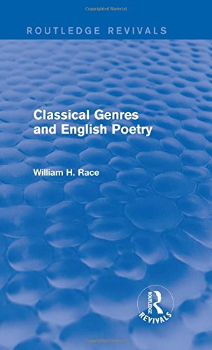 9781138803992: Classical Genres and English Poetry (Routledge Revivals)