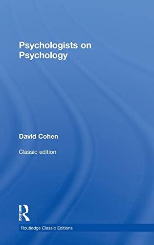 9781138808492: Psychologists on Psychology (Classic Edition)