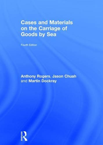 9781138809895: Cases and Materials on the Carriage of Goods by Sea